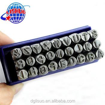 Hot Sell Alphabet Stamp Set Metal Letter Stamps