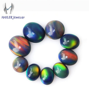 Black China opal treated lot calibrated color play gemstones cabochon precious stones beads