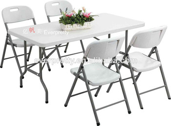 Portable Folding Table And Chair Set Plastic Dining