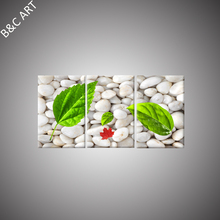 Bright Modern Canvas Art Quartz Stone Leaf Natural Scenery Art Painting