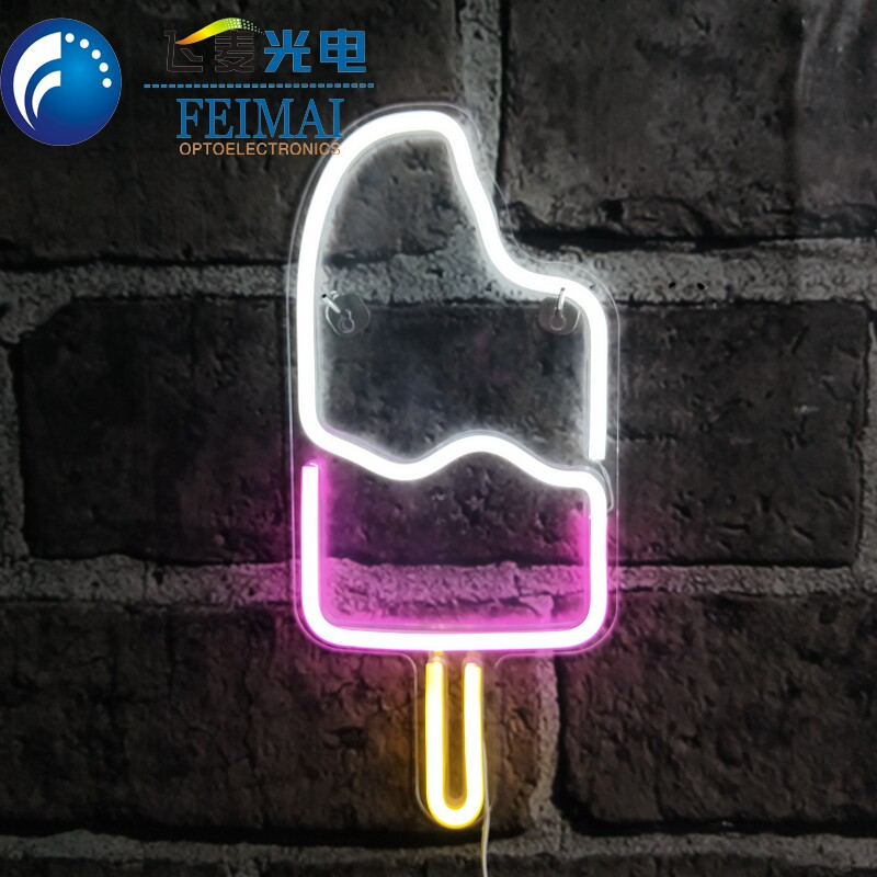 Sign Up Led Neon Sign With HIPS Base Board Wall Deco