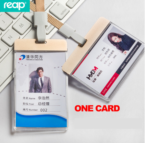 Reap 7136 Aluminum Name Badge Holder with Lanyard Bus ID Card Holders business Office school