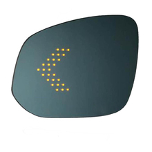 Led turn signal Blue wide angle 가열 안티 dazzle 차 외 fender rear view mirror 대 한 toyota 하이랜더 윙 (gorilla glass)