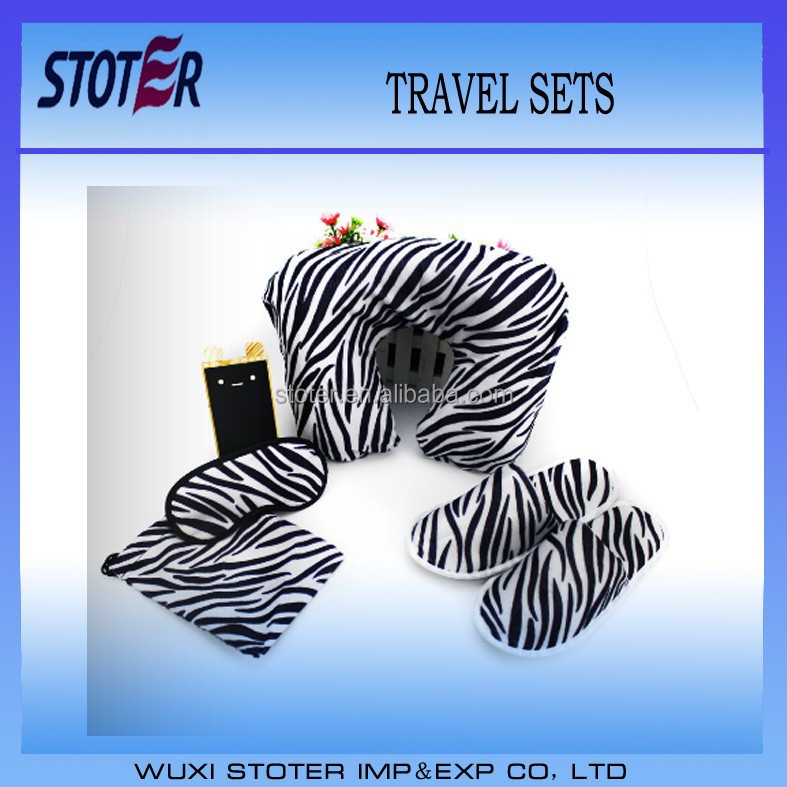 Zebra goggles with pouches eye masks (travel sets)