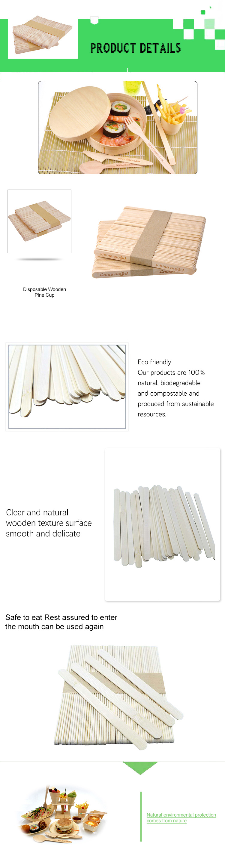 Perfect quality bamboo jumbo ice cream stick material