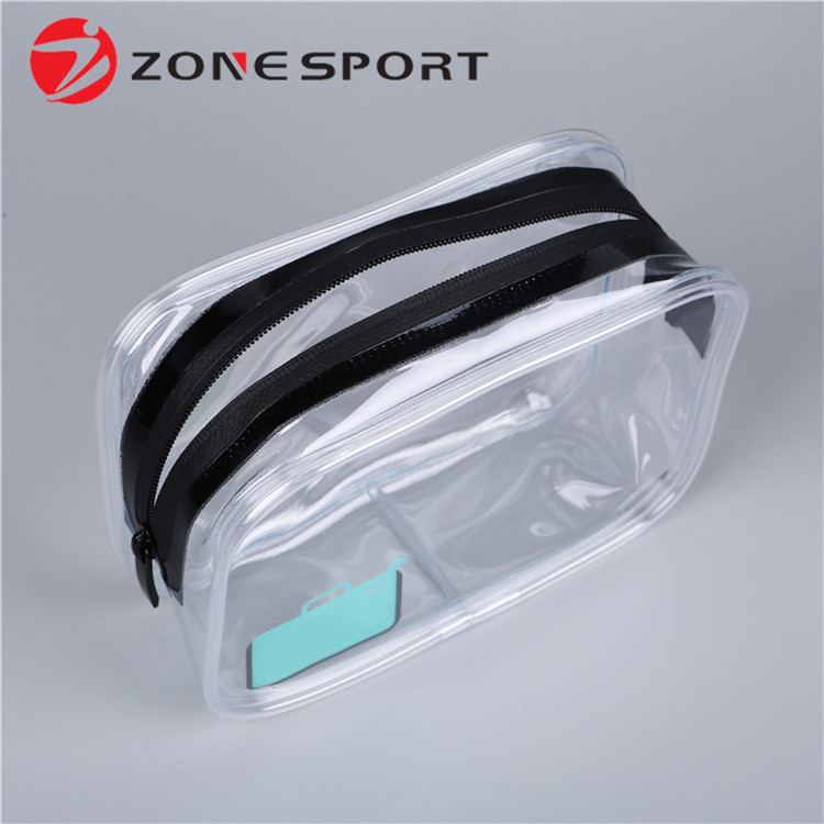 Amazon Popular Travel Toiletry Bag Transparent Cosmetic Bag Set Custom Printed Clear Makeup Bag