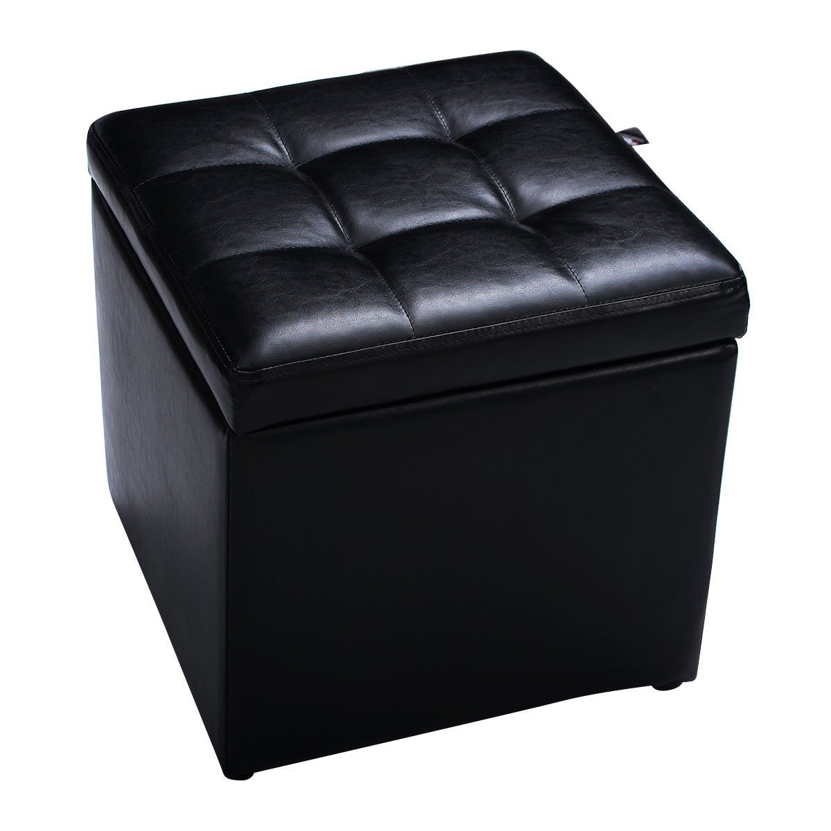 Get Quotations Cube Ottoman Pouffe Storage Box Lounge Seat Footstools With Hinge Top New Simple Faux