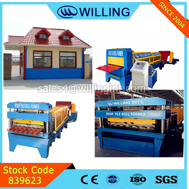 Willing Building Material Machinery Steel Roof Tile new arch roof k steel type cold Roll Forming Machine outside building