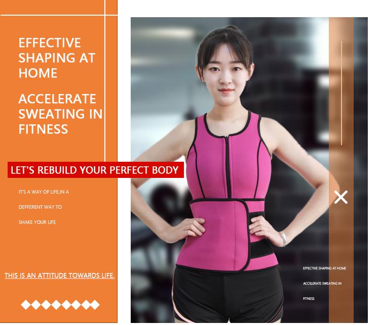 High Quality Women Slimming Neoprene Yoga Sport Gym Corset Waist Body Shaper Trainer Bodysuits