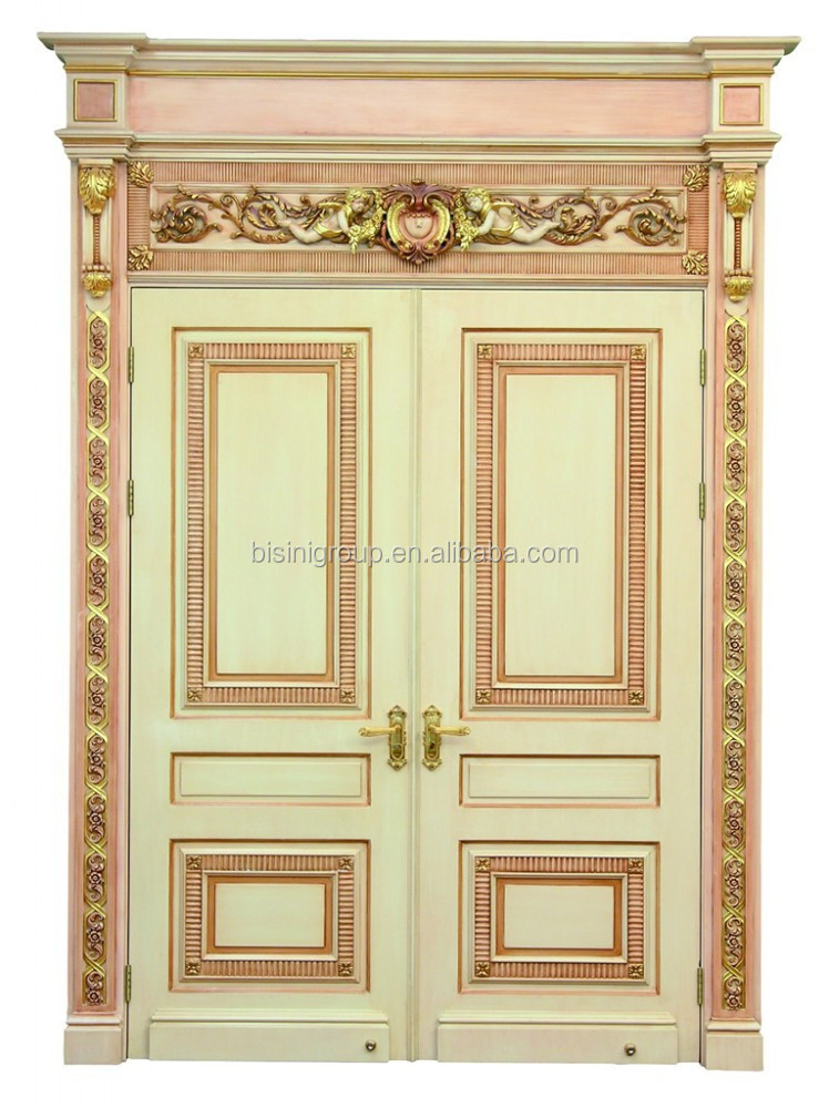 Luxury Vintage White Carved Wood Door In French Rococo Style Bf11