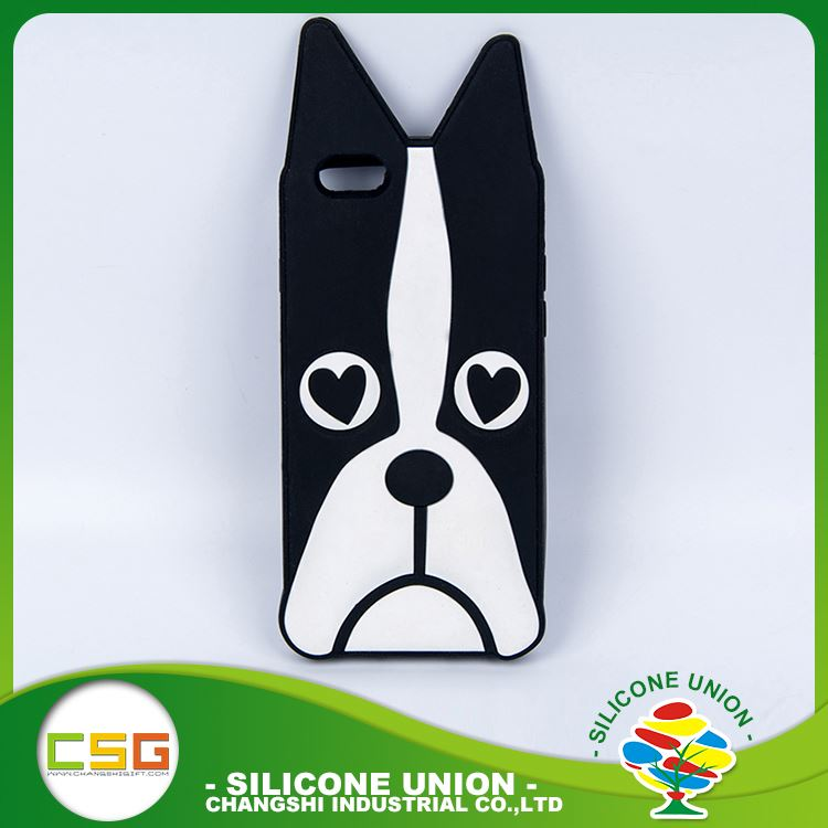 Various types lovely dog multi-functional silicone cell phone case