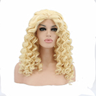 Hot selling synthetic Blond deep wave full lace/lace front wigs