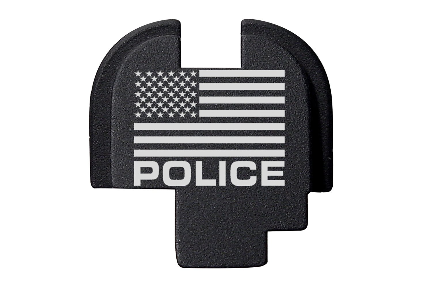 For Springfield Armory XDS 9mm 45ACP Rear Slide Plate Black Us Flag Police