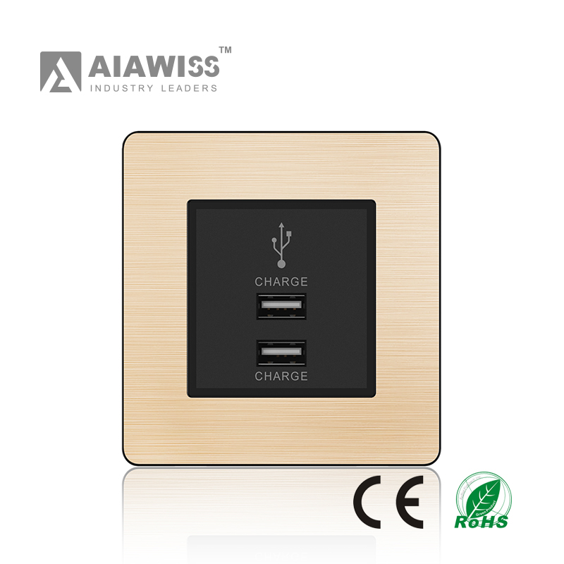 2017 new thin zigbee wireless electric wall socket and wall switch
