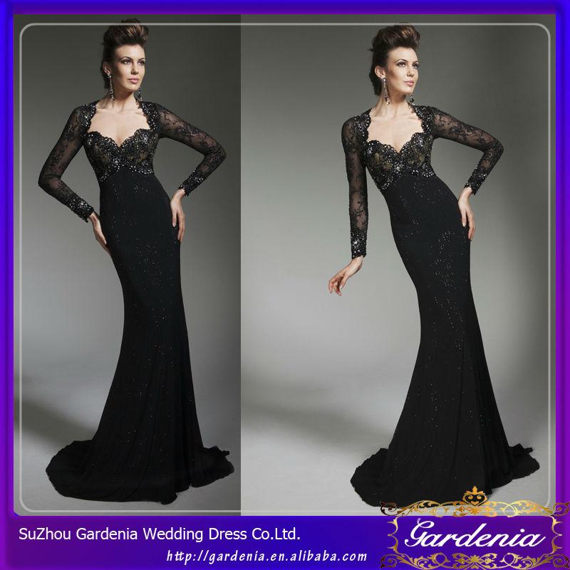 c5b916eade cor preta de manga comprida de sobreposição de renda vestido bandage casaco  longo da mãe da
