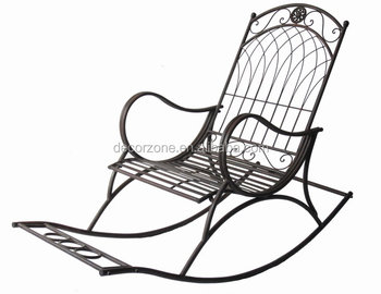 Charmant Inexpensive Antique Metal Garden Rocking Chairs