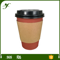 Wholesale OEM high quality paper coffee cups with lids and sleeves