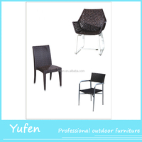Outdoor rattan garden dining chair furniture china
