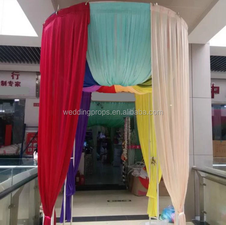 adjustable wedding product ceiling decorations detail kit pipe drape feet drapes circle and