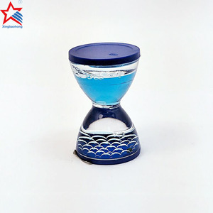 Mini novelty liquid oil drop sand timer hourglass for gift and kid toys