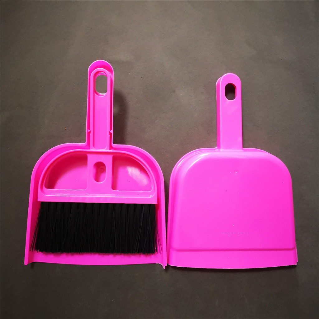Mini plastic desktop cleaning broom and dustpan