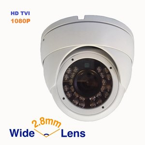 2.4MP (HD-TVI/AHD/CVI/Analog) 4-in-1 1080P CMOS Outdoor Metal Dome Camera, Day Night Vision Security IR Analog Camera,