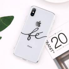 Чехол для телефона Lovebay Couples для iPhone 11 Pro 7 8 6 6s Plus 5 SE X XR XS Max прозрачный мягкий силиконовый чехол из ТПУ с надписью Love(Китай)