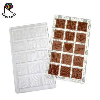 Househpld 3D Plastic Chocolate Mold PET Chocolate Mold