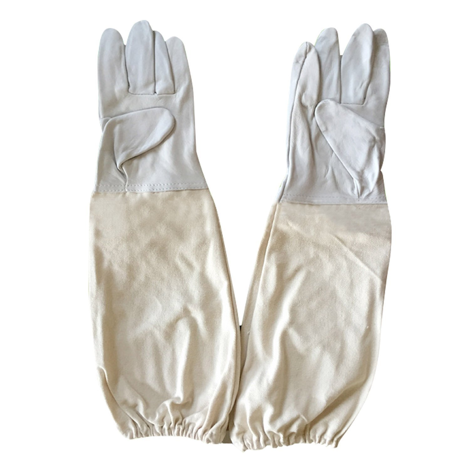 1 Pair XL Alles Goat Leather Beekeeping Gloves with Vented Sleeves
