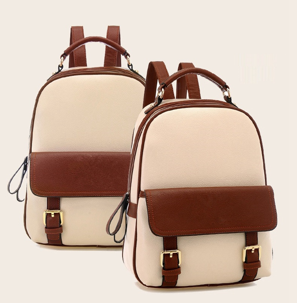 93b1c36ac4ae Get Quotations · Itemship Bags Backpack Women s Leather Backpack Leisure  Waterproof Bags Small Size Travel Backpack School Bags Shopping