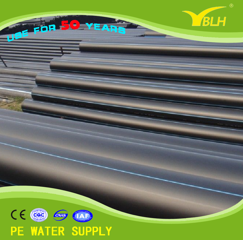 PE 100 black pe pipe 450mm 500mm pn10 sdr11 hdpe water plastic pipes prices