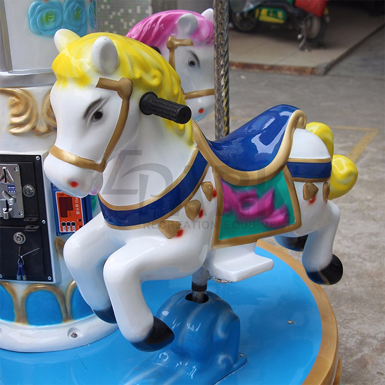 Hot sell attractive 3 seats mini fairground rides small carousel for shopping mall