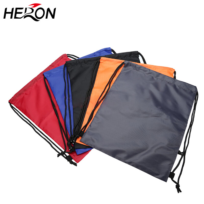 Custom 210D Polyester Folding Waterproof shopping travel Drawstring Bag