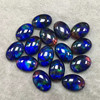 Wholesale synthetic gemstone glass crystal ammolite stone oval shape cabochon