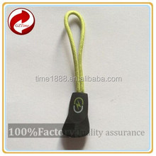 2015 GZ-Time Factory supply stylish elastic pvc green silicone slider,supply stylish plastic green elastic silicone zipper pull