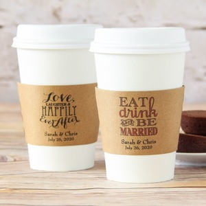 coffee sleeves with printed logo, paper sleeve packaging, recycled cup coffee cup sleeves
