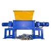 Industrial Double Shaft Plastic Shredder Machine for Sale