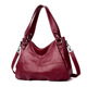 PU leather newest design hot sale online shopping women handbag tote bag for lady