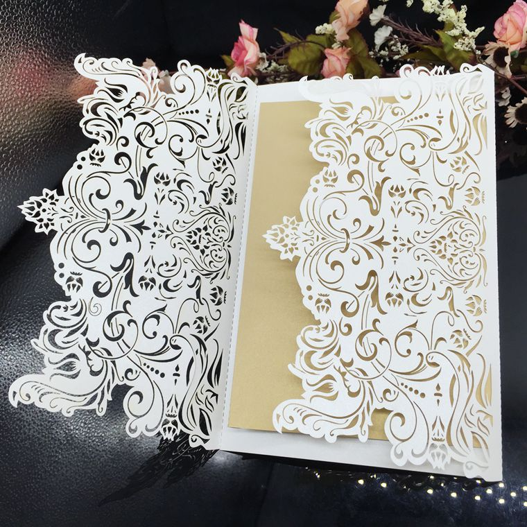 Di Yiwu Aimee all'ingrosso 3d laser cut carta dell'invito di cerimonia nuziale (AM-WC03)