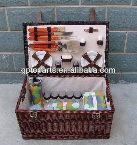 6 Person Picnic Basket With Handle Picnic Bag