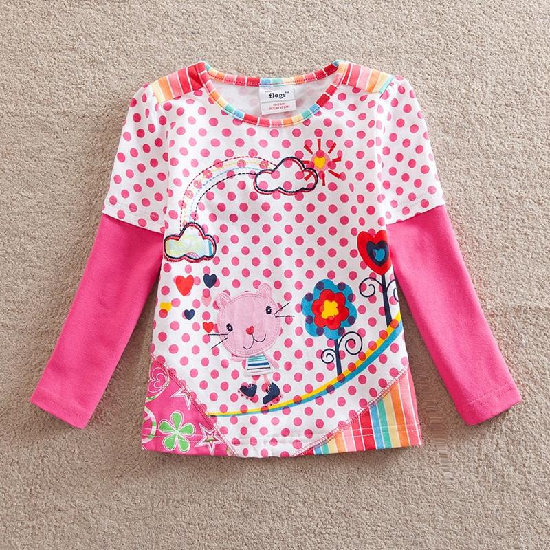 HTB1dFAtfIrI8KJjy0Fhq6zfnpXaf - Girls Long Sleeve All Year T-Shirt, Long Sleeve, Cotton, Various Designs and Prints