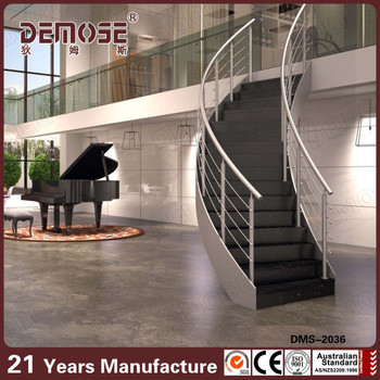 Wood Step Prefab Metal Stair Railing Internal Stairs Residential