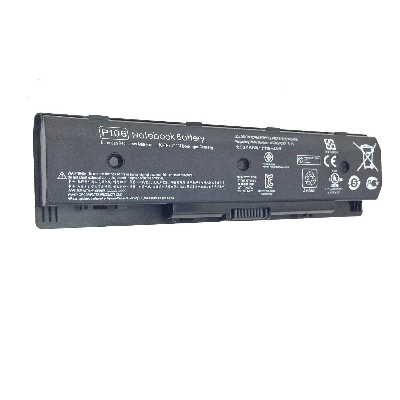 DJW 10.8V 47Wh PI06 Laptop Battery for PI06 PI06XL P106 PI09 710417-001 710416-001,HP 14-E000 15-E000 15t-e000 15z-e000 17-E000 17-E100 17Z-E100,Fits P/N HSTNN-LB4O HSTNN-YB4N