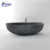 High quality China suppliers solid bathroom surrounds freestanding artificial black stone bathtub
