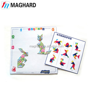 Hot creative kid' educational toy tangram , magnetic puzzle stationery set
