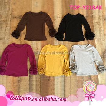 choose original preview of search for clearance Kids Clothing Wholesale Blank T Shirts Ruffle Shirt Girl Plain Children  Ruffle Tops Long Sleeve Boutique Kid Shirt - Buy Girls Blank Ruffle Sleeve  T ...