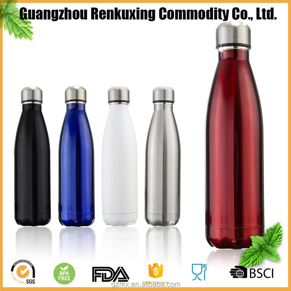 Free <strong>Samples</strong> Stainless Steel Cola Shape Water Bottle,cola style vacuum double wall insulated stainless steel sport drink bottles