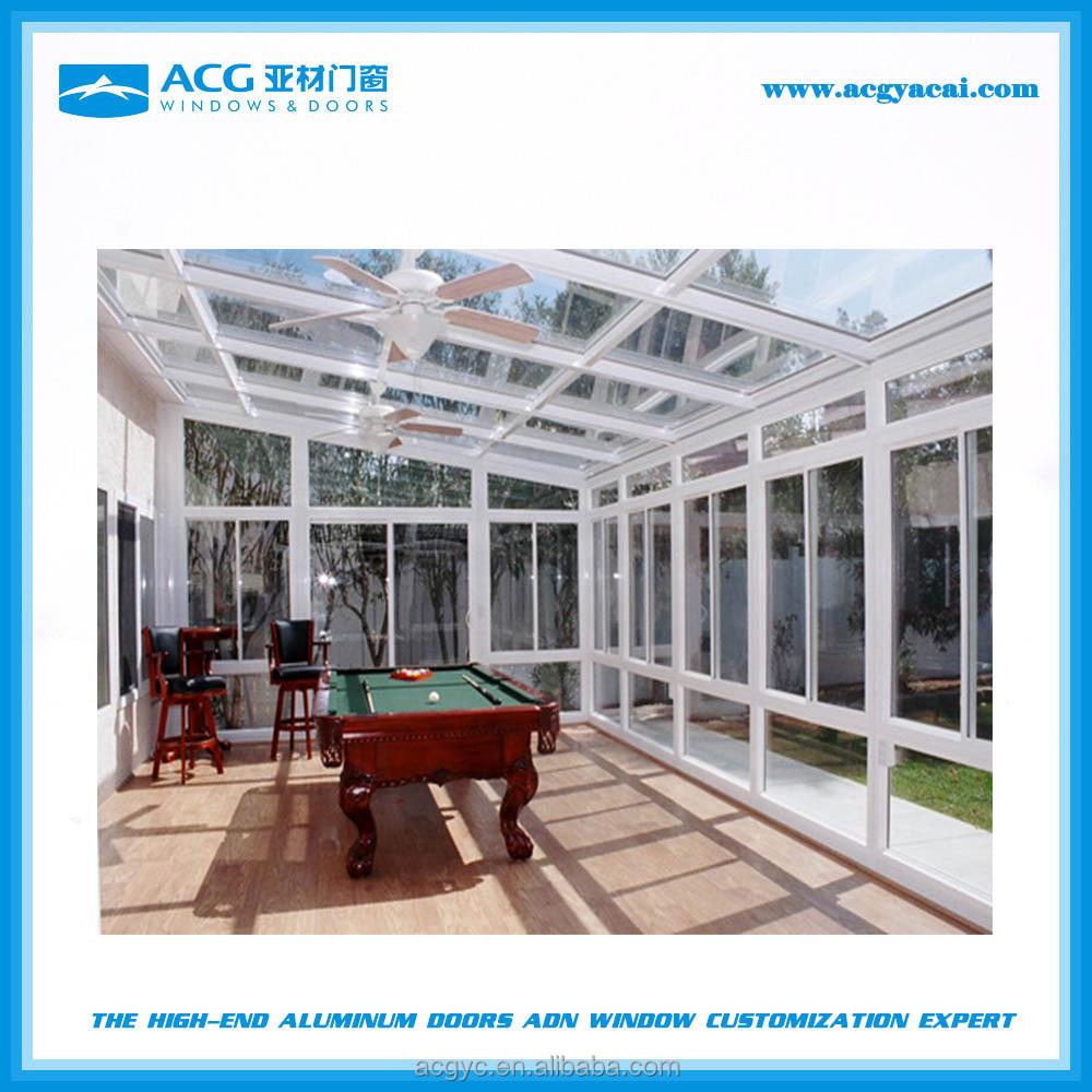 Di alta qualit veranda di vetro per le attivit all for Layout di patio all aperto