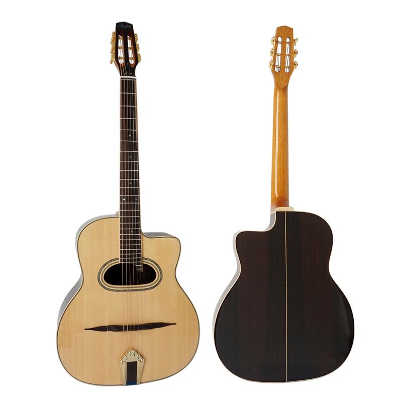 Alibaba.com / China made Aiersi brand handmade Grande Bouche maccaferria Gypsy Jazz guitar