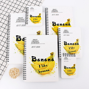 Creative Stationery Banana Paper Notebooks Student A5 Spiral Notebooks